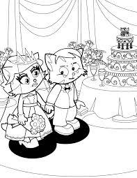 bride groom coloring handipoints