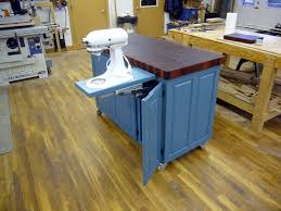 fivebraids custom woodworking blue butcher block kitchen island