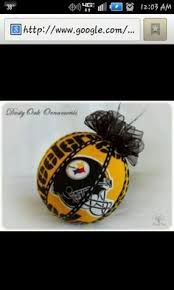 pittsburgh steelers christmas ornaments stocking tree topper