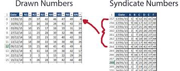 Lottery Syndicate Spreadsheet Help Setting Up Lottery Checker With Excel Help Needed