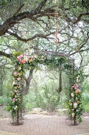 wedding arch garden garden wedding in springs ruffled
