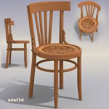 Wooden Chair Wood Chair 3d Model