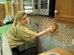 how to do a tile backsplash in kitchen self adhesive backsplash tiles hgtv inside kitchen backsplash