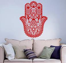 housewares wall vinyl decal hamsa hand fish eye indian buddha zoom