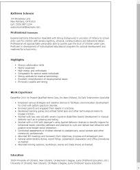 Example Of Special Skills In Resume by Professional Early Intervention Specialist Templates To Showcase