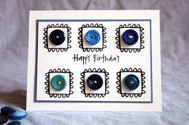 diy button birthday card