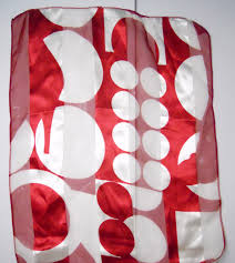 circles moderne scarf extra long 59 inches long silky blend red