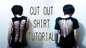 how to cut out the back of a cabinet diy cut out shirt tutorial back to school