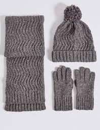 Marks And Spencer Kids Curtains Kids U0027 Hat Scarf U0026 Gloves Set M U0026s