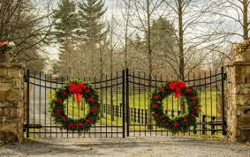free images winter fence wall dirt road entrance autumn