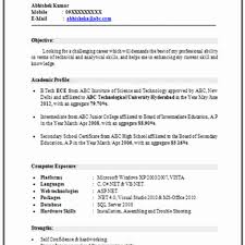 resume format free download for freshers pdf download latest resume format doc file for freshers computer