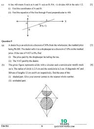 Std 2 Maths Worksheets Icse 2016 Mathematics Class X Board Question Paper 10 Years