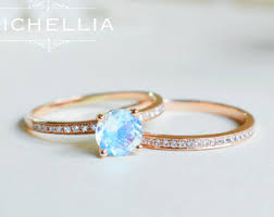 Moonstone Wedding Ring by Moonstone Engagement Etsy