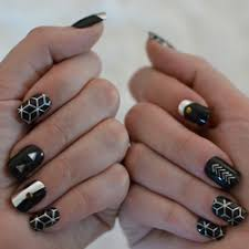 boho nail art set metallic temporary nail flash tattoos