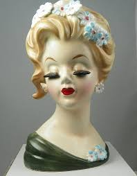 452 best vintage lady head vase images on pinterest head