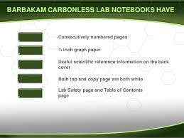 how to use a carbonless lab notebook
