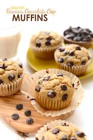 healthy banana chocolate chip muffins fit foodie finds