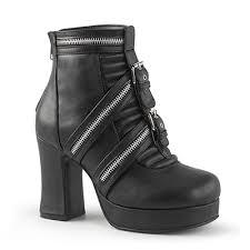 s boots 50 demonia gothika 50 moto zipper platform boots demonia shoes