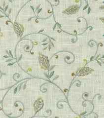 embroidered home decor fabric upholstery fabric dena kalia embroidery green tea joann