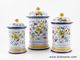 italian canisters kitchen how to decorate your kitchen with italian ceramic canister sets