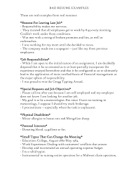Resumer Example by Bad Resume Examples Berathen Com