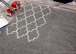 cheap rugs how to stencil a rug on the cheap erin spain