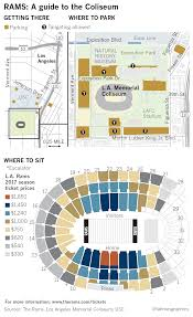 mile one centre floor plan picking your spots at the coliseum for rams home games la times