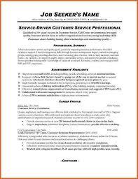 Customer Service Job Resume Free Customer Service Resume Resume Template And Professional Resume