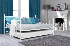 Diy Daybed Frame White Metal Size Daybed Rame With Trundle And Accent Pillows