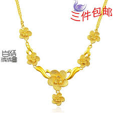 ladies gold necklace images Womens gold necklace set rose gold chain handmade jewelry classic jpg