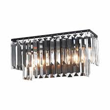 oil rubbed bronze 2 light bathroom vanity light with crystal