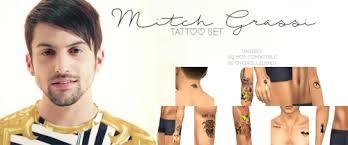 overkillsimmer mitch grassi tattoo set unissex love 4 cc finds