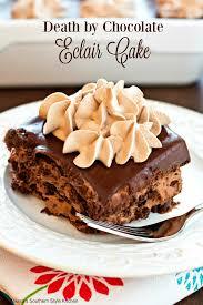 death by chocolate eclair cake melissassouthernstylekitchen com