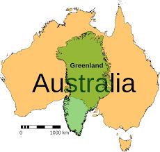 Map Size Comparison File Australia Greenland Size Comparison Svg Wikimedia Commons