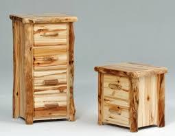 log dressers u0026 chests rustic barnwood chest aspen log dresser