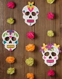 dia de los muertos decorations how to sugar skull mask garland paper source paper source