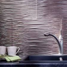 fasade kitchen backsplash fasade backsplash waves in brushed nickel tanning room