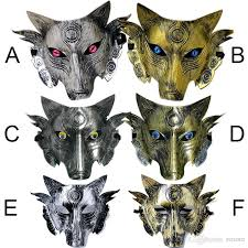 wolf mask party wolf mask masquerade party masks costume wolves