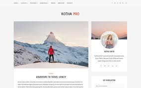 kotha pro responsive blog template bootstrap blog u0026 magazine