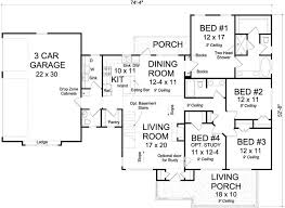 1 Story 4 Bedroom House Floor Plans 124 Best House Plans Images On Pinterest House Layouts House