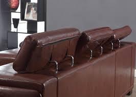 canapé cuir vieilli marron technos canapé croûte de cuir et simili 3 places 135x86x61 cm