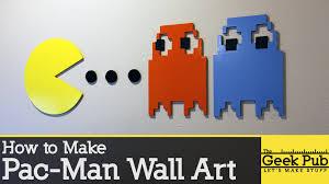 how to make pac man wall art youtube