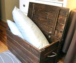Making A Toy Box Plans by Wood Storage Chest Make Your Own The Project Lady