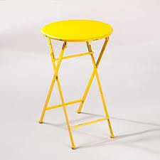 metal folding table outdoor yellow metal folding accent table outdoor and patio furniture