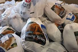 the average weight of a turkey purchased at thanksgiving is 15