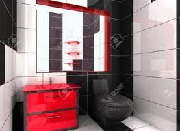 red white black bathroom sustainablepals org