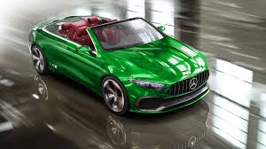 green mercedes a class mercedes concept a sedan loses roof rear doors in colorful renders