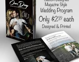 magazine wedding programs printed destination wedding program magazine