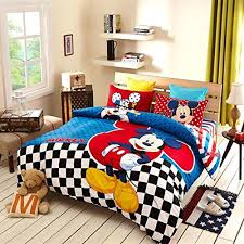 Winnie The Pooh Duvet Child Mickey Minnie Mouse Bedding Boys Girls Motorcycle Winnie The