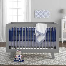 Crib Bedding Sets by Breathablebaby 3 Piece Crib Bedding Set Navy Walmart Com